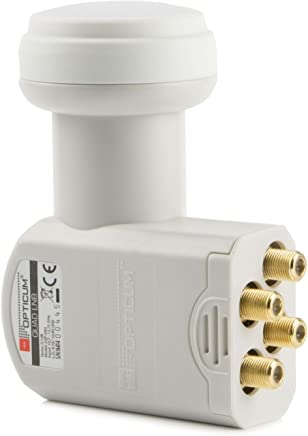 Opticum Quad LNB - LQP-04H - vergoldete Kontakte (Full HD, 3D, Feed-Durchmesser 40 mm)