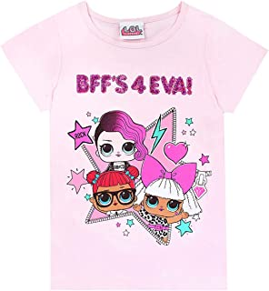 Dolls BFF's 4 EVA Girls T-Shirt Reversible Sequins Pink