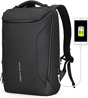 Anti-Theft Backpack Markryden Large- Capacity and Water-Proof Business Bags for Men with USB Charging Port for School Travel Hiking Pack Fits Under 15.6 Inch Laptop