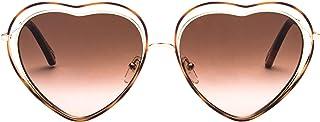 Luxury Fashion | Chloé Women CE131S213 Brown Metal Sunglasses | Season Permanent