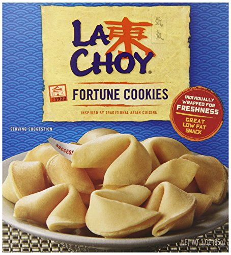 La Choy, Fortune Cookies, 3oz Box (Pack of 4)