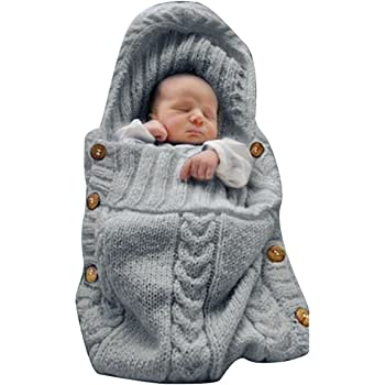 Transer Swaddle Blanket Newborn Infant Baby Faux Cashmere Receiving Blankets Wrap Sleeping Bag