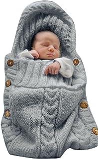 XMWEALTHY Newborn Baby Wrap Swaddle Blanket Knit Sleeping Bag Receiving Blankets Stroller..