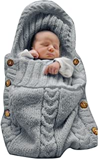 XMWEALTHY Newborn Baby Wrap Swaddle Blanket Knit Sleeping Bag Receiving Blankets Stroller..