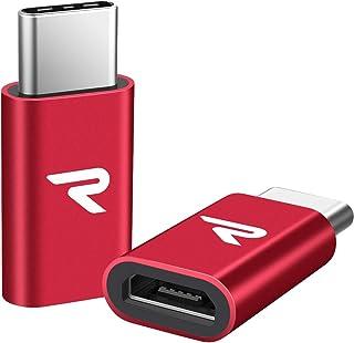 RAMPOW Adaptador Micro USB a USB C Adaptador Tipo C Aluminio Duradero -Garantía de por Vida - Compatible para Nuevo MacBoo...