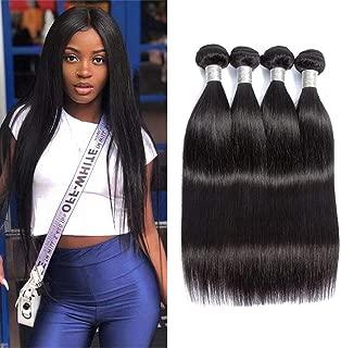 Great Grace Straight Virgin Hair Weave 4 Bundles Brazilian Hair Bundles Straight Human Hair Weft Extensions 95-100g/pc 20 22 24 26
