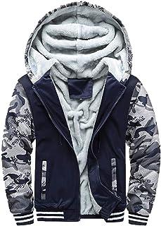 iTLOTL Mens Hoodie Winter Warm Fleece Zipper Sweater Jacket Outwear Coat Tops Blouses …