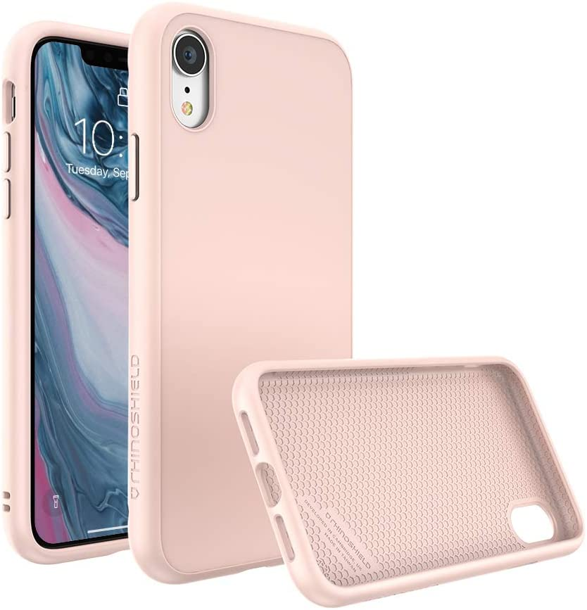 RhinoShield Ultra Protective Phone Case [iPhone XR] | SolidSuit - Military Grade Drop Protection Against Full Impact, Supports Wireless Charging, Slim, Scratch Resistant - Blush Pink