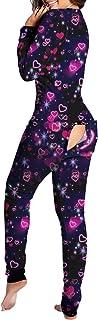 Mujer Sexy Pijama Invierno de Solapa del Botón Casuales Funcionales Mono, Manga Larga Sexy Nalgas Parche Adulto Pijamas, Elasticidad Casa Pijama Ajustado