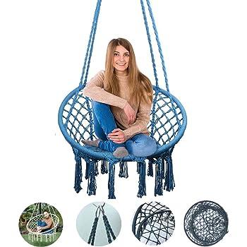 Giardino Blu Esterni Dasing Sedia Amaca Sedia Sospesa Sedia Un Dondolo con 1X Corda Sospesa per Interni