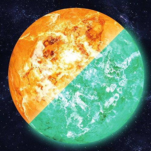 lumentics Leuchtender 30cm Wandsticker SONNE - Im Dunkeln nachleuchtender Wandsticker. Nachleuchtendes Planeten-Wandbild. Glow in the Dark Aufkleber.