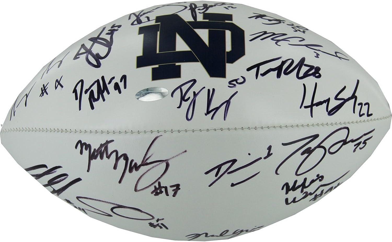 NCAA Notre Dame Fighting Irish 201112 Senior Class Signed Football