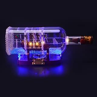 LIGHTAILING Light Set for (Ship in a Bottle) Building Blocks Model - Led Light kit Compatible with Lego 21313(NOT Included The Model)