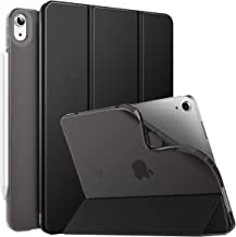 MoKo Case Fit New iPad 10.9 inch, iPad Air 4th Generation Case 2020, Smart Trifold Stand Slim Folio Case with Soft TPU Frosted Translucent Back Cover Fit iPad Air 4 2020, Auto Wake/Sleep - Black
