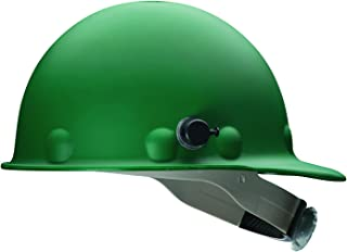 Fibre-Metal by Honeywell P2AQRW74A000 Super Eight Fiber Glass Cap Style Ratchet Hard Hat with Quick-Lok, Green