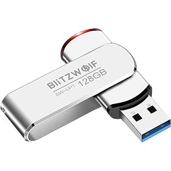 Memoria USB 128GB, BlitzWolf Memoria Flash USB 3.0 Pendrive Aluminio Portátil hasta 70 MB/s con Indicador LED(Plateado): Amazon.es: Electrónica