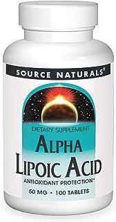 Alpha Lipoic Acid 50mg Source Naturals, Inc. 100 Tabs