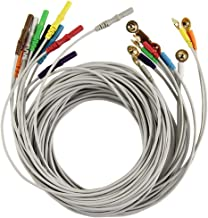 Tester Сonductive Wire Cable for Marquette//Dash Extension Tube Connecting Tube Series Data Recorder Cable 10 Lead for Mac1600, 4.0 Banana Plug End Temperature Probes Sensors