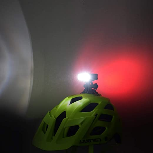 61BGSw4HDxL. AC SL520  - Fahrradhelm Licht, WASAGA 200 Lumen LED Fahrradhelm Licht 3 Modi USB wiederaufladbar wasserdicht Fahrrad Fahrrad Scheinwerfer und 5 Modi Fahrrad...