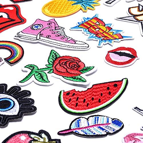 ParchesParaRopaTermoadhesivos,Rodilleras Pantalones Niños, Planchar En Los Parches Apliques Para Ropa Camiseta Bolsas Pantalon Sombrero Jeans O DIY Coser (32 PCS)