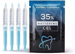 Four 10mL Syringes SenAllis Cosmetics Teeth Whitening Gel, 40mL 35% Gel Syringes, Fast..