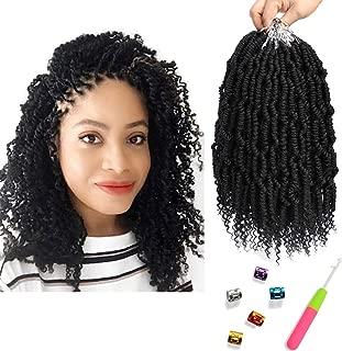 Bomb Twist Crochet Hair 6 Packs 10inch Spring Twist Braiding Hair Passion Twist Hair Pre looped Crochet Hair Synthetic Hair Extension Fluffy Twist Dreadlocks Hair for Women by Mirra's Mirror (1B)