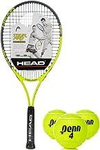 HEAD Tour Pro Oversized 18x19 NanoTitanium Black/Yellow Tennis Racquet Kit or Set Bundled with (1) Can of Penn Tennis Balls