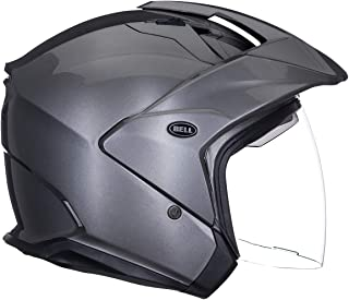Bell Unisex XX-Large 7000746 Solid Titanium MAG-9 Open-Face, D.O.T-Certified Street Helmet-Adult Size XXL Gloss, XX-Large