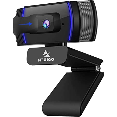 NexiGo AutoFocus 1080p Webcam with Stereo Microphone, Privacy Cover and Software Control, N930AF FHD USB Web Camera, Compatible with Zoom/Skype/Teams/Webex, PC Mac Desktop