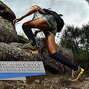 Acexy Compression Socks 7 Pairs for Women /& Men 15-20 mmHg is Best Athletic /& Medical for Running Flight Travel Nurses