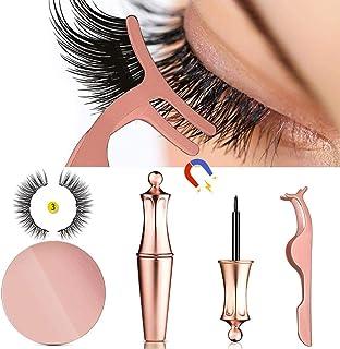 a4b7ac343e1 MOGOI False Eyelashes Kit With Magnetic False Eyelashes, Magnetic Eyeliner  And Eyelashes Tweezers, No