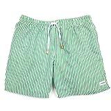 Image of Korora Men's Swim Trunk - Green Stripes (Ibiza) (Medium)