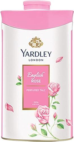 Yardley London ENGLISH ROSE Perfumed Deodorizing Talc Talcum Powder 100gm