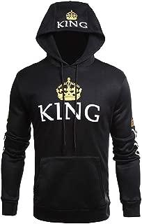 2019 King Queen Printed Couple Hoodies Women Men Sweatshirt Lovers Couples Hoodies Pullovers Gift