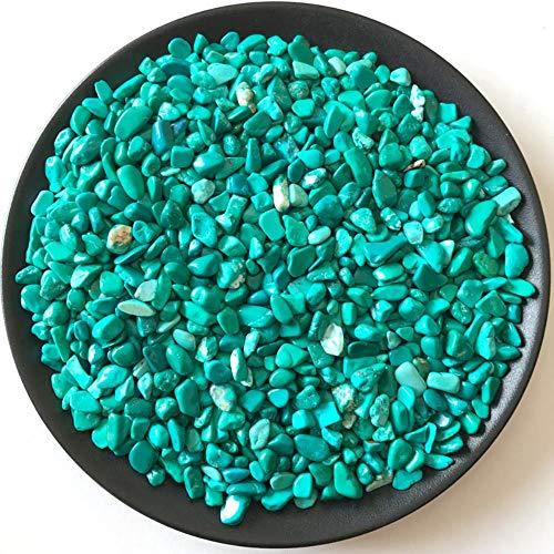 SDJH Piedra Turquesa Verde Piedra de Piedra áspera Pulida Curación Piedras y minerales Naturales Decoración de la Salud Artículo de decoración