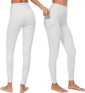 a88b2a085bcf26 Munvot Sport Leggings Damen mit Taschen 1 bis 2er Pack - Sporthose Yogahose  Laufhose Tights Fitnesshose Yoga Leggings für Damen