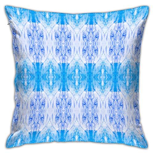 LiBei Funda de Cojín,Acuarela Italiano patrón azulejo japonés geométrico,Funda de Almohada Cuadrado para Sofá Coche Cama Sillas Decoración para Hogar(45 x 45cm)