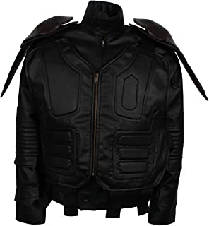 Judge Urban Black Motorcycle Leather Jacket Plus Vest Costume
