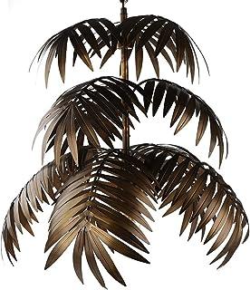 Newrays Lámpara colgante vintage de bronce oscuro, hoja de árbol rústica para sala de estar, dormitorios, candelabros, accesorios de iluminación