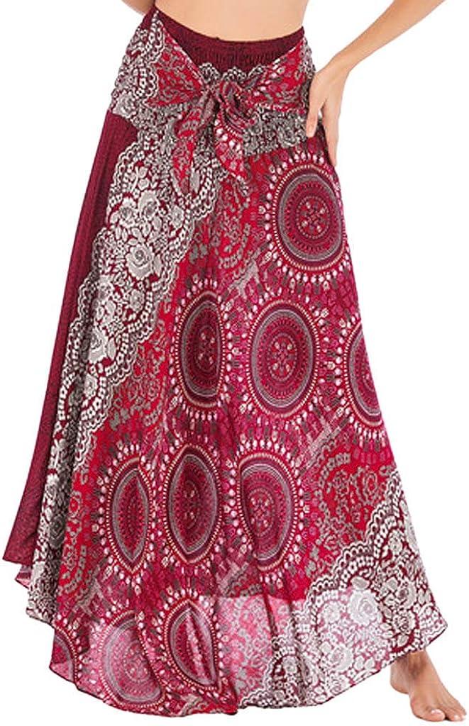 ZSBAYU Women's Boho Large Sarong Dress, Cover Up Wrap Beachwear Waist Skirt