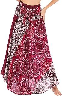 Largas Y Elegantes Faldas Cortas Mujer Verano Faldas Mujer Invierno Primavera Vestidos Mujer Hippie Bohemia Gitana Boho Flores Elástico Cintura Floral Halter Falda