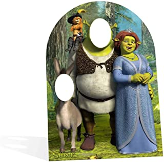 Star Cutouts STSC821 Offical Lifesize Cardboard Cutout Party Decoration & Fun Gift Shrek Fiona Donkey Child Size Stand in Height 134cm