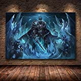 PCCASEWIND Cuadros Decoracion World of Warcraft Map Poster Lienzo Pintura Arte De La Pared Pegatinas De Pared Juego Poster World Map Wallpaper Living Room Decor (40X60Cm),Wkh-161