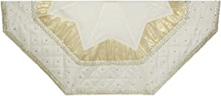 Kurt Adler Tree Skirt with Quilted Border, 52-Inch, Ivory