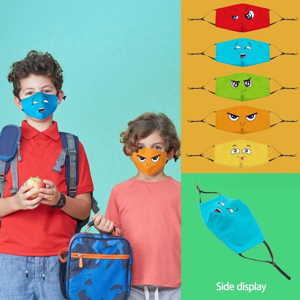 50 Stück Kinder Einweg 3-lagig,Face Shield für Kinder Children, mit süßem Dinosaurier-Druckmuster, Fashion Outdoor Elastic Ear Loop Face Bandanas Ausdruck
