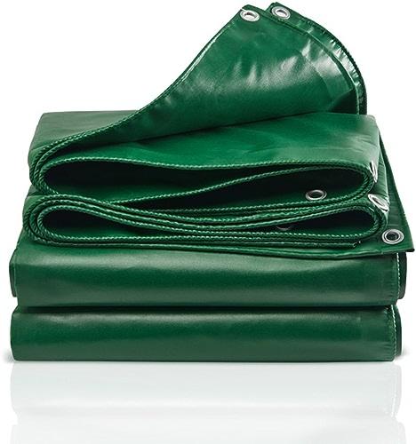 Tarpaulin HUO Couverture Extérieure De Camping De Linoléum, Toile Anti-UV Imperméable à l'eau, épaisseur 0.4mm, 450g   M2 (Couleur   Vert, Taille   5  7m)