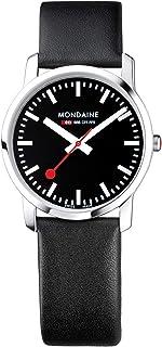 Mondaine - Simply Elegant - Reloj de Cuero Negro para Hombre y Mujer, A400.30351.14SBB, 36 MM