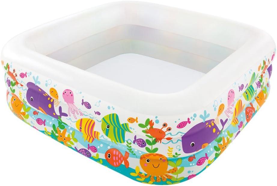 Intex 57471NP - Piscina hinchable acuario, 159 x 159 x 50 cm, 340 litros: Amazon.es: Jardín