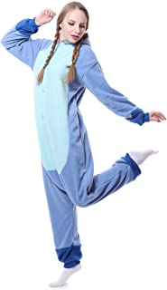 Unisex-Adult Onesie Pajamas Stitch Animal Sleepwear for Halloween Party  Costumes 007d19ff2