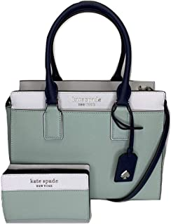 Kate Spade New York Cameron Medium Satchel bundled with matching Bifold Wallet (Spring Meadow)